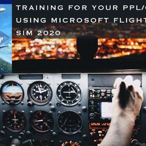 Flight training using Microsoft Flight Simulator 2020!