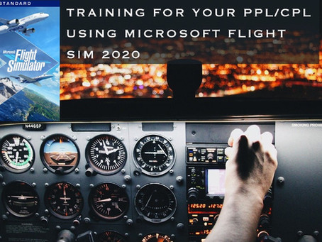 Flight training using Microsoft Flight Simulator 2020!