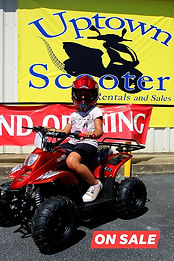 Happy customer at Uptown Scooter in Columbus, GA. Purchased an ATV for kids!