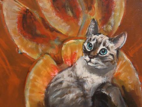 Littlest Peach Boy 12x9 mm on canvas_SOL