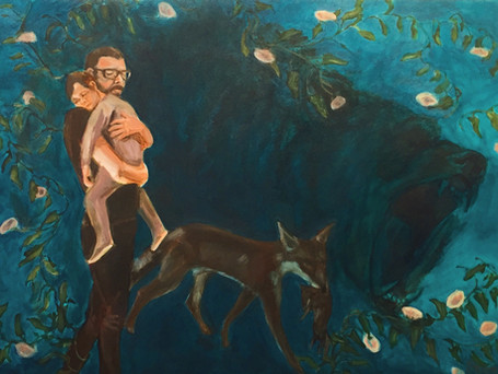 """Keeping Watch""  24x32 acrylic on canvas 2020"