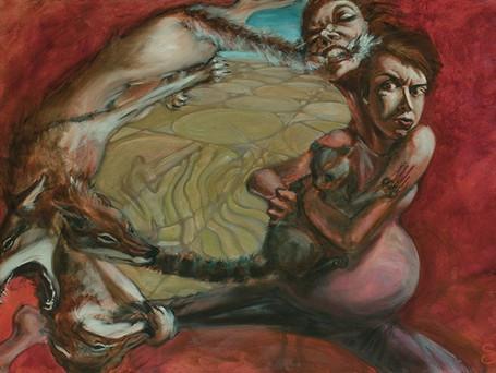 """Fight or Flight"" 30x45 acrylic on canvas 2016"