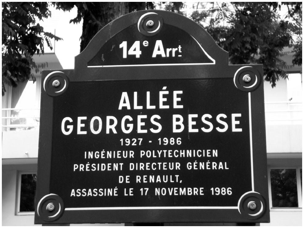 Street in Paris named in Besse's honor.