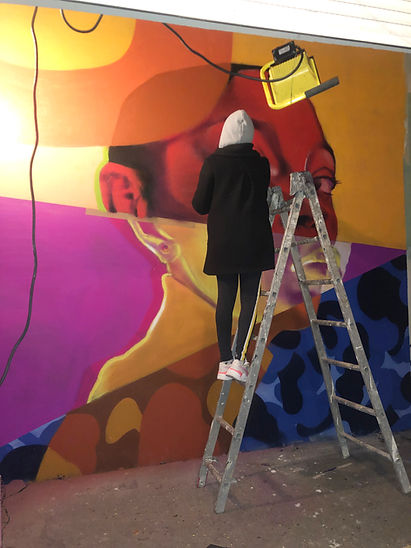 Jomad Mur Portait Street Art Graffiti