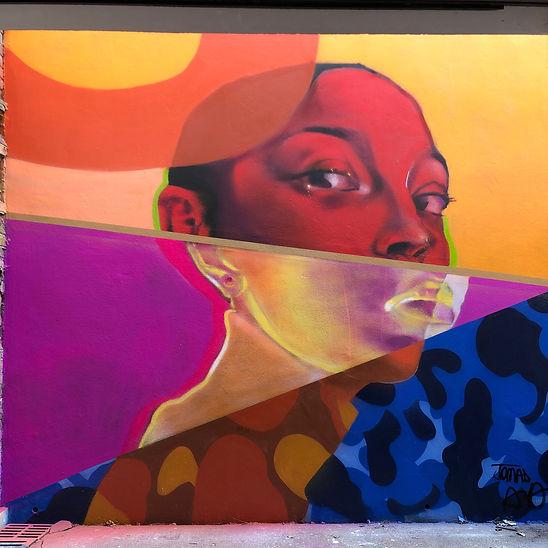 Jomad Mur Portait Street Art Graffiti Andrew Agutos