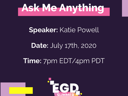 Excitement for our AMA with codeSpark Game Programmer, Katie Powell!
