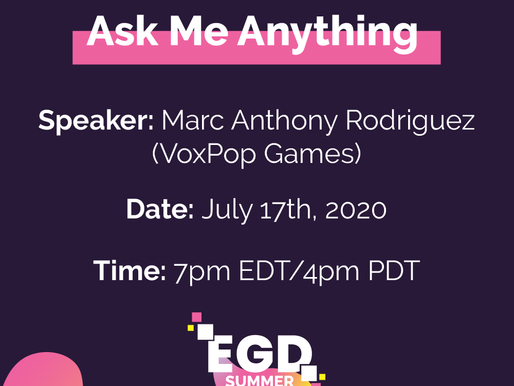 Excitement for our AMA with VoxPop Games Co-Founder, Marc Anthony Rodriguez!