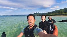 Sea kayaking in Kabira