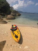 Sea kayaking in Yonehara