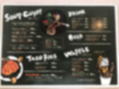 Cafe sunkiss menu
