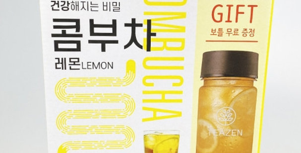 TEAZEN KOMBUCHA LEMON Powder Stick 5g X 30Pcs(1Box) with Bottle Diet BTS