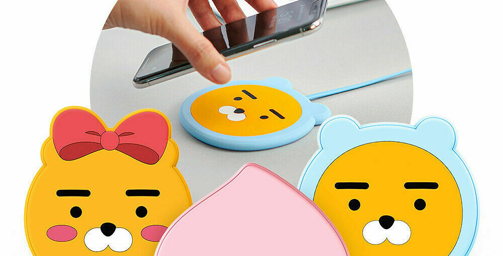 KAKAO FRIENDS FACE Wireless Charger Boost Up 10W Max Universal Wireless Charger