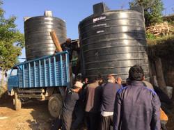 Wassertank für Dorf