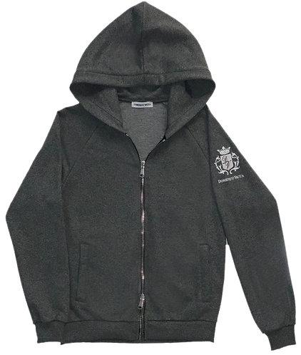 Logo Collection Zipper Hoodie Dark Grey