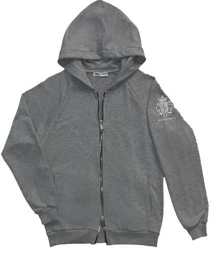 Logo Collection Zipper Hoodie Grey