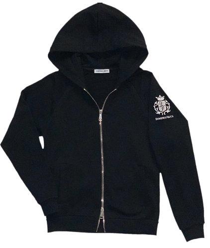 Logo Collection Zipper Hoodie Black