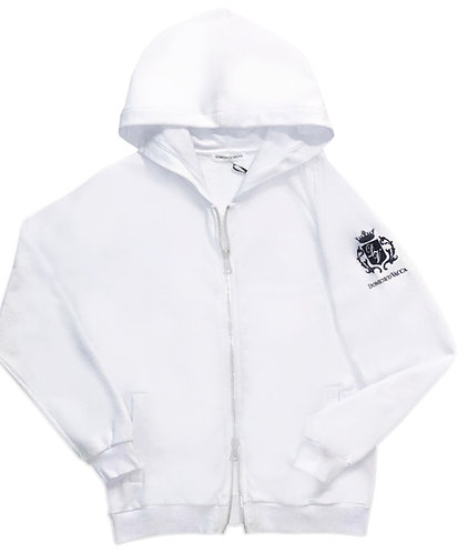 Logo Collection Zipper Hoodie White
