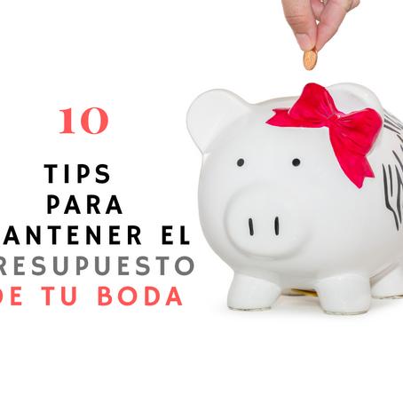 10 Tips para mantener el presupuesto de tu boda