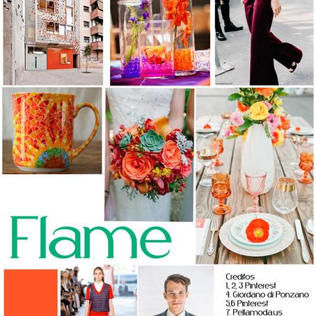"Naranja ""Flame"" para parejas originales"