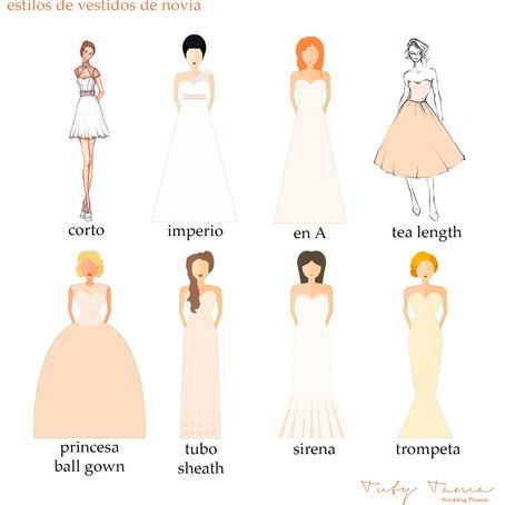 Estilos para tu vestido de novia