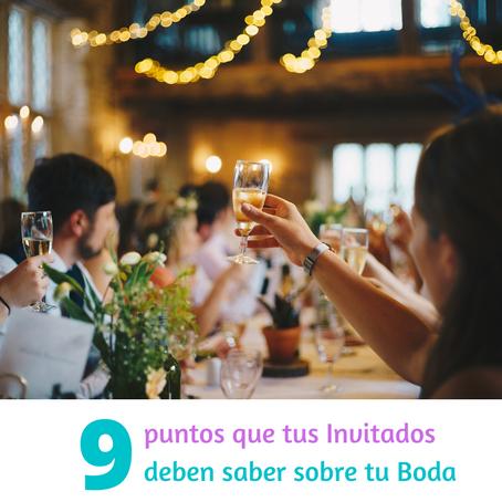 Las 9 cosas que tus invitados necesitan saber de tu boda