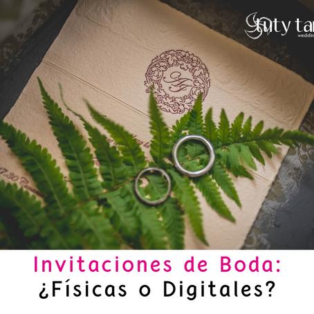 Invitaciones de Boda: físicas o digitales?