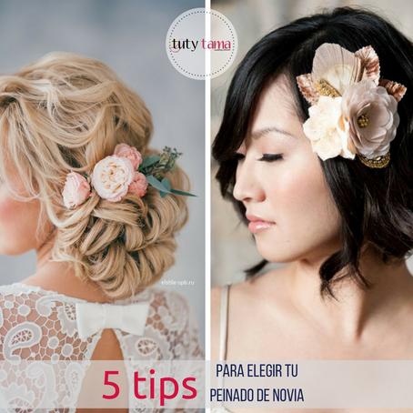5 Tips para Elegir tu Peinado de Novia