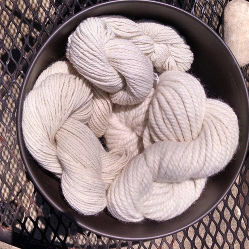 White Yarn Various Gauges
