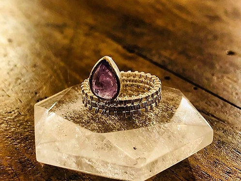 Anillo Wrapped Amatista