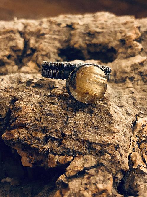Anillo Wrapped Cuarzo Rutilado