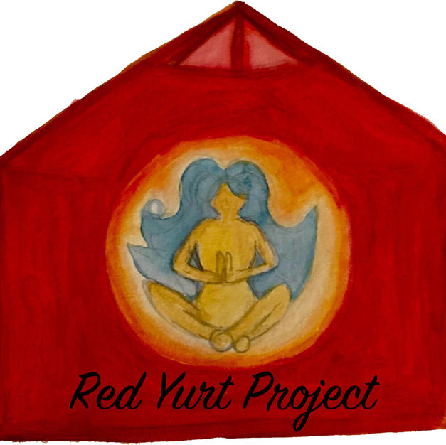 Meanwhile....the Red Yurt was erected as well!