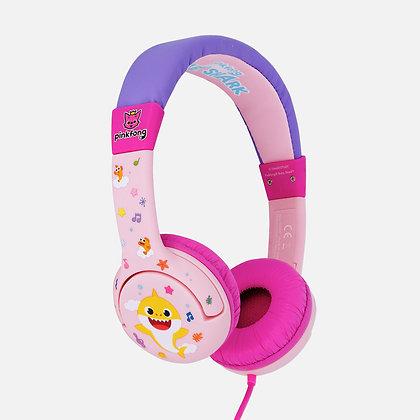 Baby Shark Pink Kids Headphones