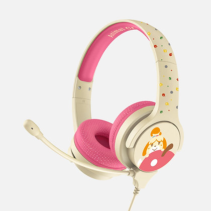 Animal Crossing Isabelle Pink and Cream Kids Interactive headphone