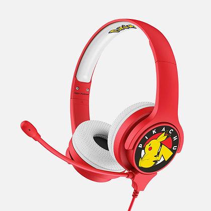 Pokémon Pikachu Red Kids Interactive headphones
