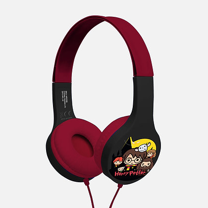 Harry Potter Chibi Black/Burgundy Kids essential headphones