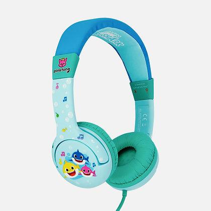 Baby Shark family Blue Kids Headphones