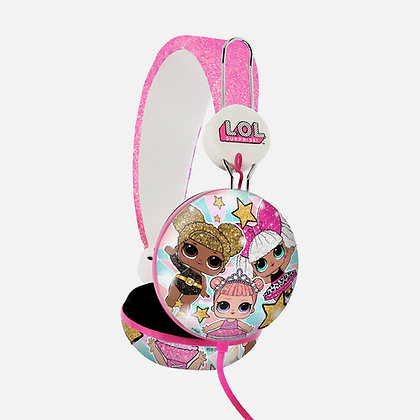 L.O.L. Surprise! Glitter Glam Pink Teen stereo Headphones