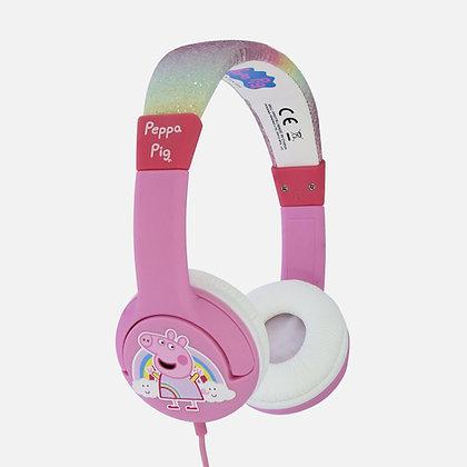 Peppa Pig Glitter Rainbow Peppa Pink Kids Headphones