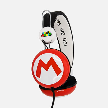 Super Mario icon Red/Black Teen stereo Headphones