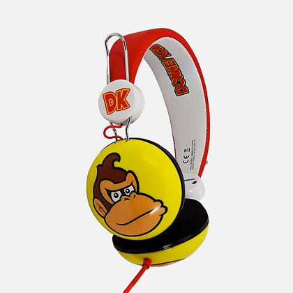 Donkey Kong Red/Yellow Teen stereo Headphones