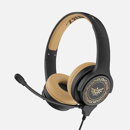 Nintendo Zelda Crest Black and Gold Kids Interactive headphones