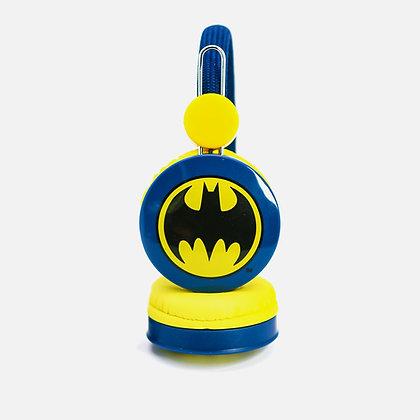 Batman Caped Crusader Blue Kids Core Headphones