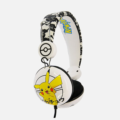Pokémon Pikachu Japanese Black Teen stereo Headphones