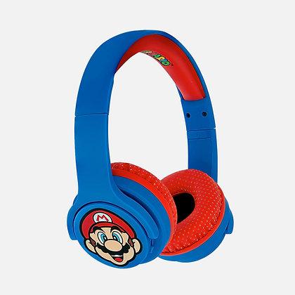Super Mario Blue/Red Kids Wireless Headphones