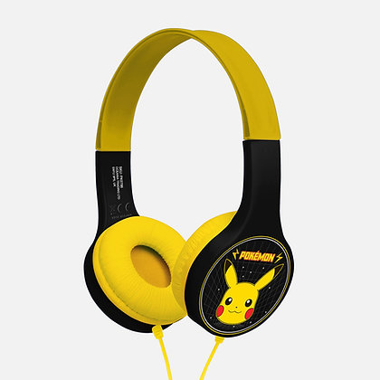 Pokémon Retro Pikachu Black/Yellow Kids essential headphones