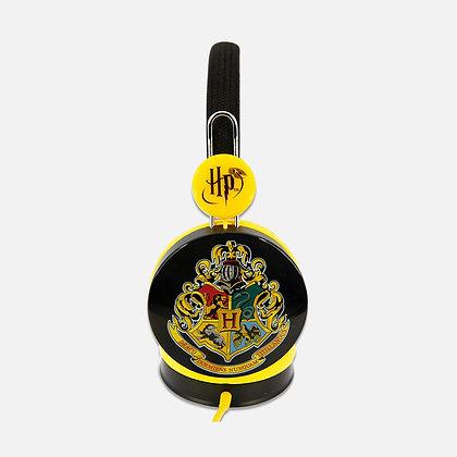 Harry Potter Hogwarts Crest Black/Yellow Kids Core Headphones