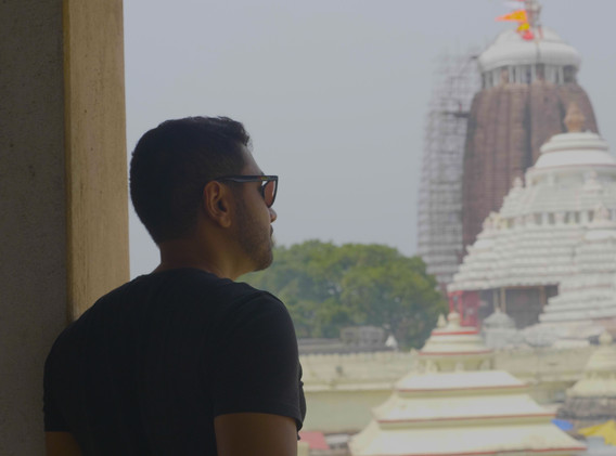 Checking out the Jagannath temple in Odisha.