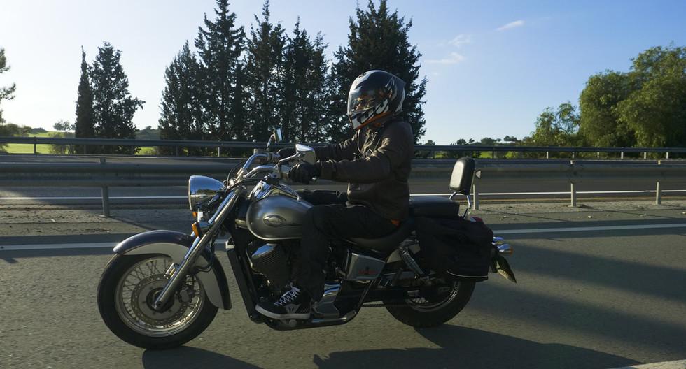 Riding a classic Honda cruiser through the island of love, Cyprus