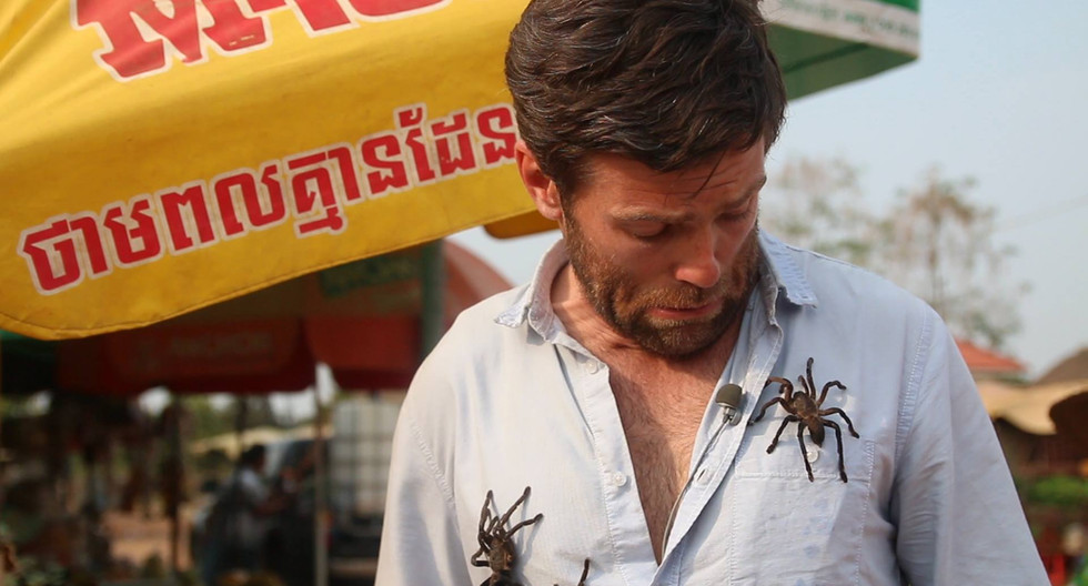 road side tarantula snacks in Cambodia!