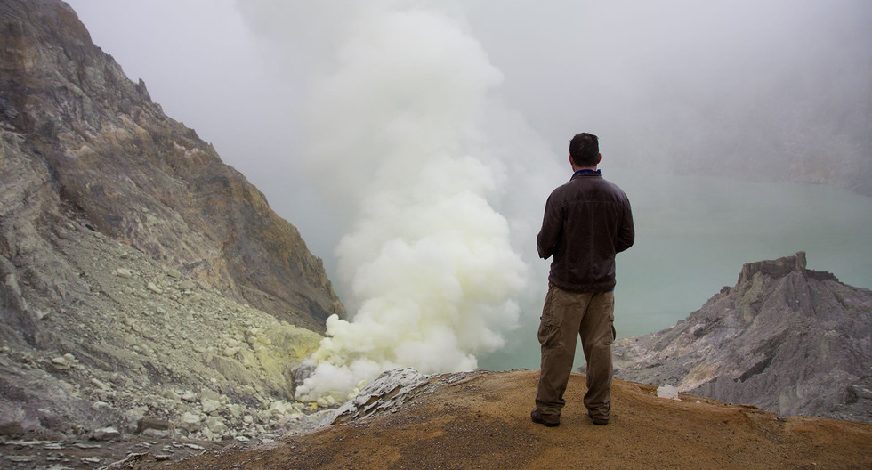 One of the most stunningly eery sites; the Ijen sulfur volcano in Indonesia